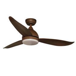 Ventilatore chiaro del soffitto di telecomando 20W il TDC LED delle pale dell'ABS di colore tre del caffè