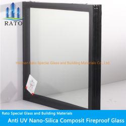 Glas van de Isolatie van de Laag Ei120 van het Bewijs van de Hitte van de goede Kwaliteit het Brand Geschatte Dubbele Vuurvaste voor Openbare Plaatsen
