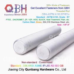 QBH ASTM A193 B7/B7m Legierung Messing Carbon Edelstahl HDG Gewindestangen Mit Halbgewinde