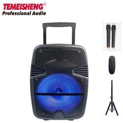 Carrinho de venda quente colunas Bluetooth com microfone, Controle Remoto, tripé