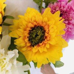 Tres crisantemo flor artificial, Diseño Elegante, fina y barato