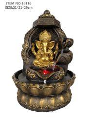 Buda de la tabla de diseño de interiores decoración de la fuente de agua Fuente Cascada
