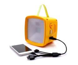 Lanterna de iluminação solar com o rádio FM Mini recarregável de poupança de energia da luz de LED de Campismo de Emergência