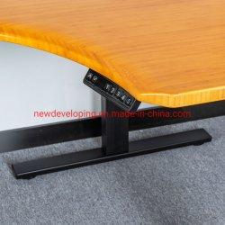 Eco friendly el bambú la parte superior de la esquina de Metal Blanco gran escritorio de oficina
