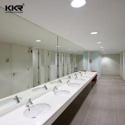 Baño personalizado Washhand Top piedra artificial Superficie sólida vanidad Tops