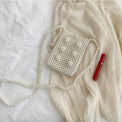 [بب01ا] محفظة زفافيّ مع [برلس] خرزة هاتف سيدات [هند بغ] لؤلؤة [كروسّبودي] حقيبة