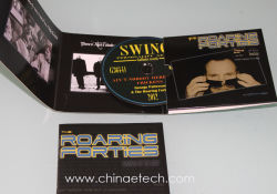 6 パネルカードボードパッキング音楽 CD の複製