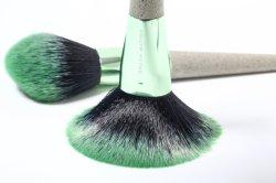 Set di spazzole cosmetiche professionali eco-compatibili 4 PZ. Tè materiale NWE Fibra + PP manico in plastica