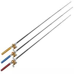Pena Rod do carbono e pesca combinado Rod e carretel de Rod da pena da pesca Rod do gelo do carretel mini