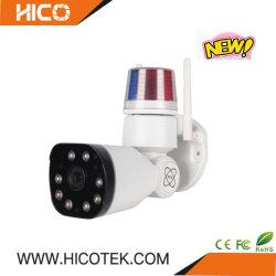2MP Outdoor numérique sans fil d'alarme de la sécurité WiFi Pan Tilt Zoom Mini vidéo de sécurité Bullet DVR de détection de mouvement caméra PTZ Système IVR