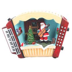 Punt van het Decor van Kerstmis van het Huis van de aangepaste Antieke Muzikale LEIDENE van de Hars het Bewegende Kerstman van TV
