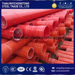 Tuyau d'enroulement de fibre de verre rouge avec haute résistance et résistant à la corrosion