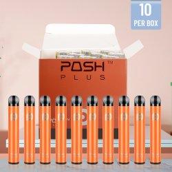 Preço por grosso de cigarros electrónico mais vaporizador descartáveis Posh Plus