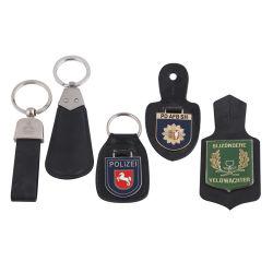Cuir Métal trousseau avec logo personnalisé comme cadeau de promotion