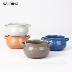 Ciotola in ceramica con vetro pieno colore per vendite sfuse Per Super Market