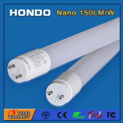 Nano PC 150lm/W/RoHS CE/FCC aprobó 18W 4FT TUBO LED T8