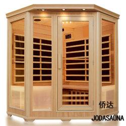 Familie Indoor Far Infrarood hoek Sauna cabine voor 3-4 personen