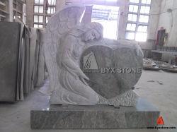 Seawave Green Granite Monument с Angel Carved Headstone