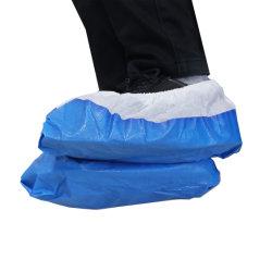 環境に優しい使い捨て靴カバーディスペンサー非 Woven CPE PP アンチスリップシューカバー