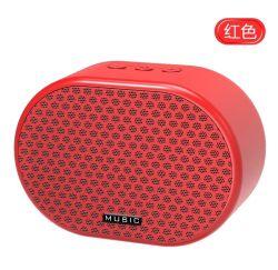 Bateria recarregável de 1200 mAh Mini Surround Som real do alto-falante Bluetooth Wireless Leitor de Blue tooth feitas pelo Metal plástico com prompt de voz inteligente
