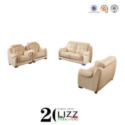 大量生産オフィスの現代レジャー本物の革ソファーの家具セット