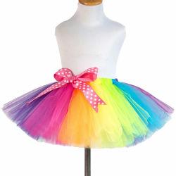 Hot vendre Baby Girls Dress fixe Rainbow POM POM jeux de boules de bouffée de Tutu jupe