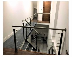 De Leuning van de Kabel van de Draad van de trap/Balustrade/Traliewerk/de de Vierkante Post & Spanner van het Roestvrij staal
