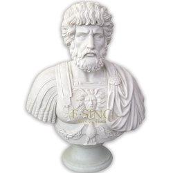 Kundenspezifischer Europäischer Stil Indoor Dekoration Kopf Skulptur Hand Geschnitzt Multicolor Antike Marmorstatuen Aus Römischem Büste