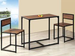 3 Piezas Unihomes Mesa pequeña mesa de comedor para el restaurante de cocina Muebles de Salón nogal