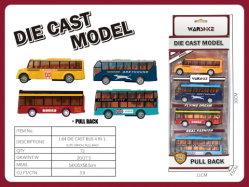 1: aleación de 64 Tire hacia atrás el modelo de Bus Internacional de Juguetes para niños
