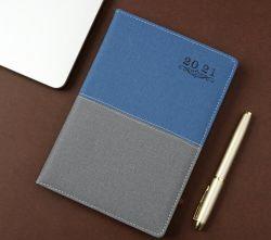 2021 صنع وفقا لطلب الزّبون مكتب إمداد تموين ترقية مفكّرة جديد زرقاء [غري] جلد يومية جريدة مخطّط [بو] مفكّرة