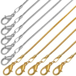 Redondo de acero inoxidable profesional de la cadena de la Serpiente Anklet joyas Pulsera Brazalete Collar para el diseño de moda