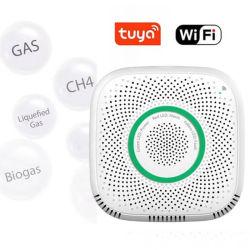 Fácil de instalar Domótica Tuya App Control Remoto de fugas de gas WiFi Alarma del Detector del sensor