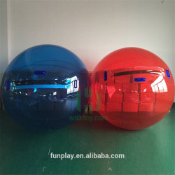 Blaues Rot-aufblasbares Wasser-Spritzen-Kugel-Spielzeug-riesige Wasser-Kugel Belüftung-TPU für Wasser-Park