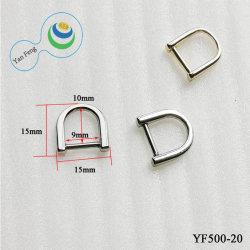 De forma geral de metais de liga de zinco anel D Fivela para acessórios