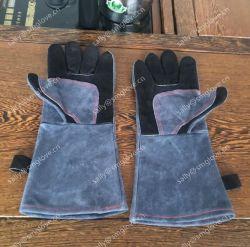16 '' lungamente che Cuffing i guanti neri della mano di sicurezza del cuoio del saldatore