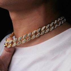 Missjewelry Micro AAA PEPVA CZ hors glacé 14K or 18K de la chaîne de liaison cubain Hip Hop Bijoux