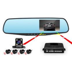 """4.3"""" HD1080p зеркало заднего вида Car DVR Dash Cam автомобильный черный ящик с датчика парковки автомобиля видеокамеры"""