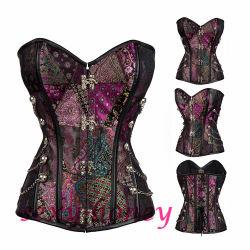 نمط الإطلاق الجديد نمط الفن القوطي كورسي كورسي كورست ناضجة النساء الملابس الداخلية المثيرة المثيرة لسيدة جميلة
