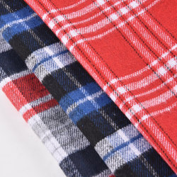 Factory Wholesale Check Strip Woven Fabric Soft flannel Yarn 염색한 패브릭 스쿨 학생 체크 패브릭 셔츠, 학교 유니폼