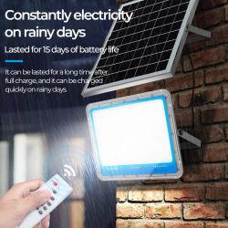 2021 Factory promoção da poupança de energia solar recarregável Powered Luz de inundação 200W