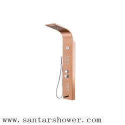 China Leverancier Zwart LED RVS Douchepaneel Showerpanel
