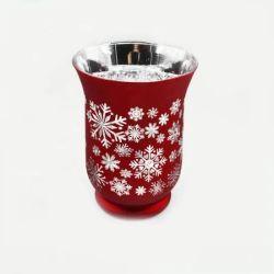 Buon Commercio all'ingrosso Design personalizzato stile di Natale vetro a taglio di cristallo a buon mercato Portacandele per decorazione di festa