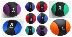 Equipamiento de gimnasio de alta calidad de caucho de dos colores peso balón medicinal de bola Bola Del Yoga Fitness