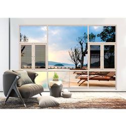 Двери и окна из алюминиевого сплава производитель продажи алюминиевых дверная рама перемещена окно с 306 сетка из нержавеющей стали
