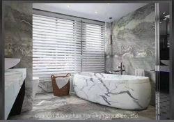 Pavimento e parete in marmo del bagno