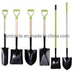 Углеродистая сталь лопаты головки сад рытье лопаты из твердых пород дерева с наконечником из стекловолокна ручку лопаты для американского рынка