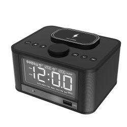 Alarm Clock Qi Wireless Charger FM Radio Bluetooth Speaker の 2 つの機能があります