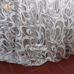 Фотографии и поставщиком квадратный белый и серебристый Sequin новой конструкции с вышитым таблица ткань для свадьбы