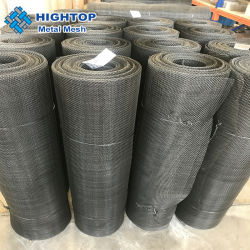 16 20 40 50 60 die 80 Ineinander greifen-Leinwandbindung-Plastikextruder rastert Eisen-Filter-Schwarz-Draht-Filter-Ineinander greifen